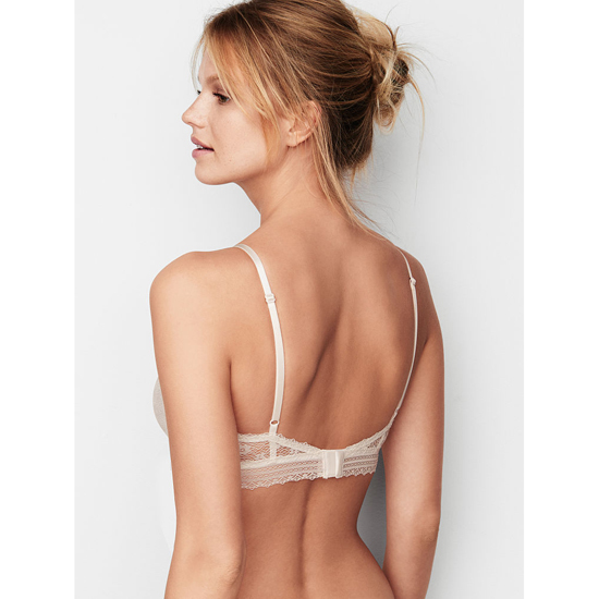 VICTORIA\'S SECRET Coconut White Lace Scoopneck Bralette Outlet Online