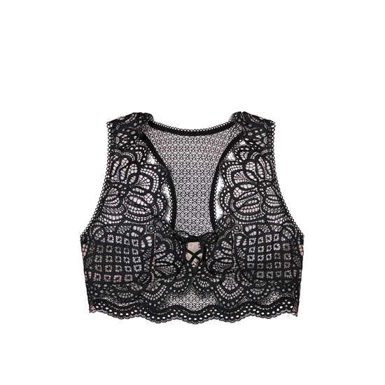 VICTORIA\'S SECRET Black NEW! The Laced-Up Bralette Outlet Online