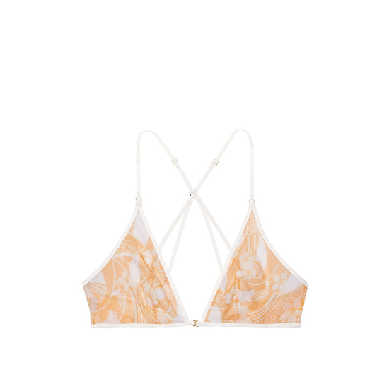 VICTORIA\'S SECRET Gold Earth Two Tone Print NEW! Mesh Front-close Bralette Outlet Online