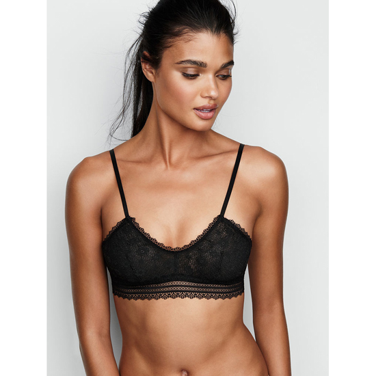 VICTORIA\'S SECRET Black NEW! Lace Scoopneck Bralette Outlet Online