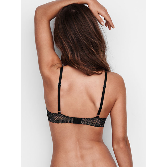 VICTORIA\'S SECRET Black Solid Lace Demi Bra Outlet Online