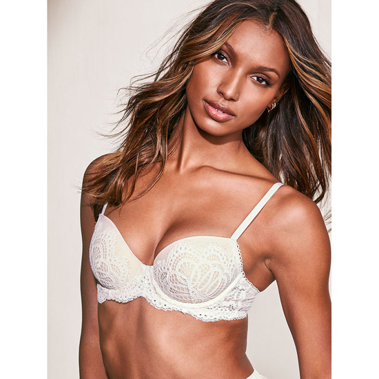 VICTORIA\'S SECRET Coconut White Solid Lace Demi Bra Outlet Online