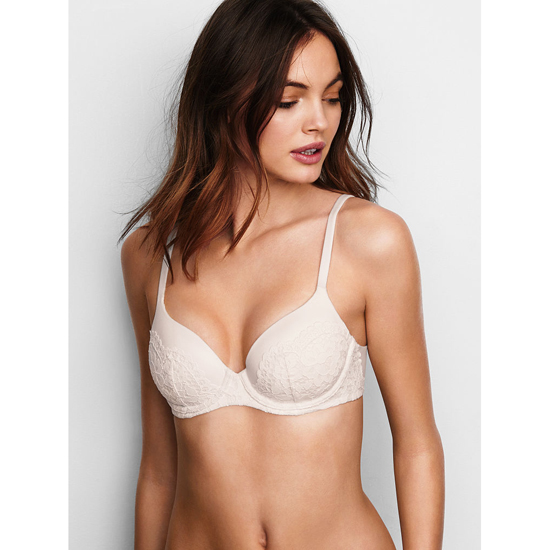 VICTORIA\'S SECRET Coconut White Crochet Lace Demi Bra Outlet Online