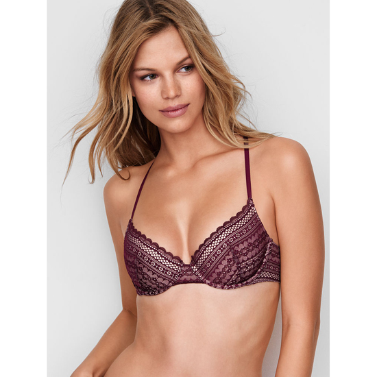 VICTORIA'S SECRET Aqua Splash Lace NEW! Lightly Lined Demi Bra Outlet Online