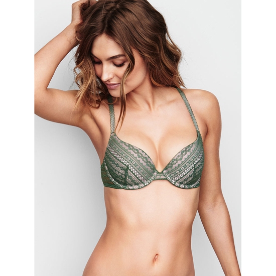 VICTORIA'S SECRET Cadette Green Lace NEW! Demi Bra Outlet Online