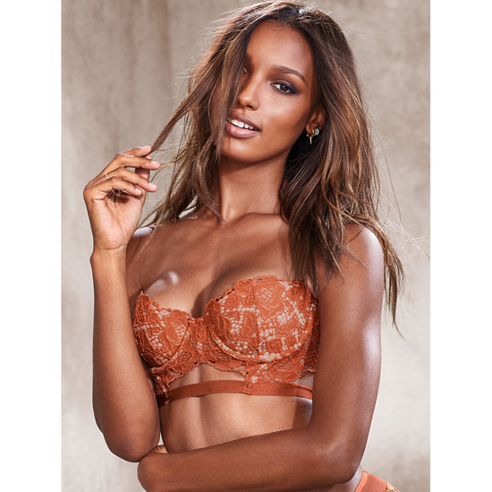 VICTORIA\'S SECRET Ginger Glaze With New Nude Strapless Lace Bustier Outlet Online