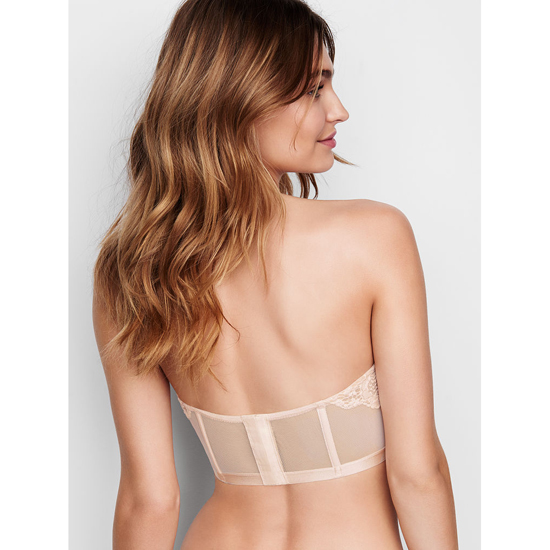 VICTORIA\'S SECRET Coconut White With New Nude Strapless Lace Bustier Outlet Online