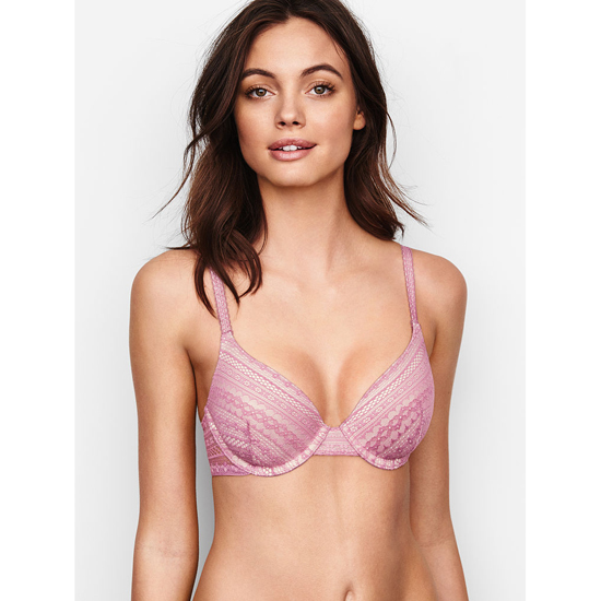 VICTORIA'S SECRET Gentle Mauve Lace NEW! Perfect Coverage Bra Outlet Online
