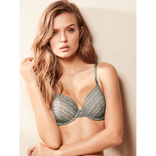 VICTORIA\'S SECRET Cadette Green Lace NEW! Perfect Coverage Bra Outlet Online