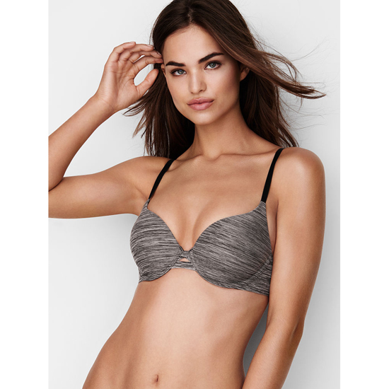 VICTORIA\'S SECRET Black Marl NEW! Perfect Shape Bra Outlet Online