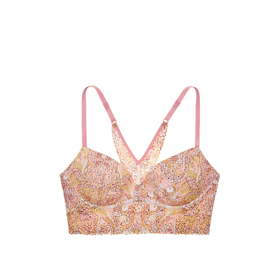 VICTORIA\'S SECRET Large Paisley Warm Print NEW! Easy Push-Up Bra Outlet Online