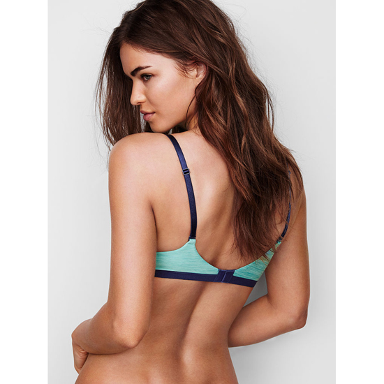 VICTORIA\'S SECRET Cozumel Teal Colorblock Perfect Shape Bra Outlet Online