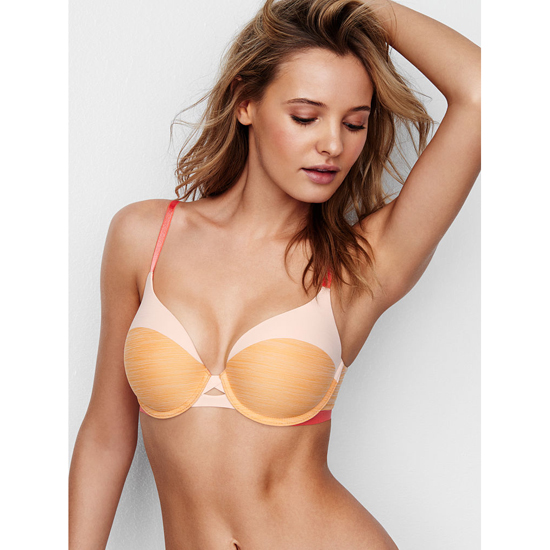 VICTORIA'S SECRET Gold Earth Colorblock NEW! Perfect Shape Bra Outlet Online