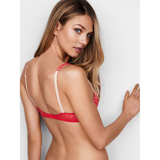 VICTORIA\'S SECRET Bright Cherry Lace Push-Up Bra Outlet Online