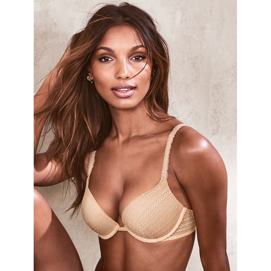 VICTORIA\'S SECRET Champagne Lace Push-Up Bra Outlet Online
