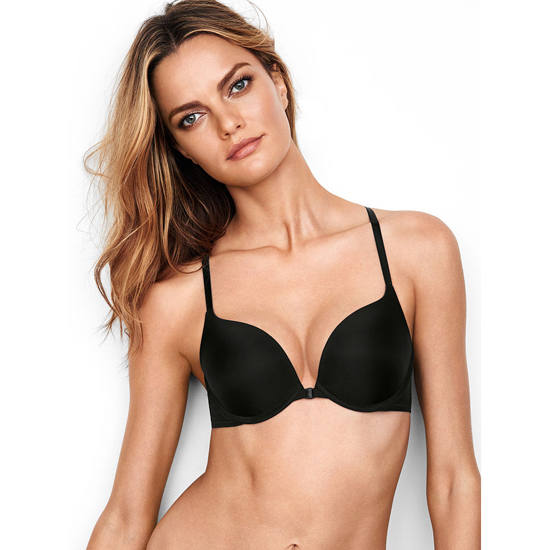 VICTORIA\'S SECRET Black Strappy Back Push-Up Bra Outlet Online