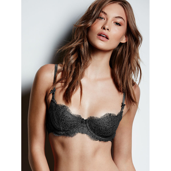 VICTORIA\'S SECRET Black Lace NEW! The Unlined Uplift Bra Outlet Online