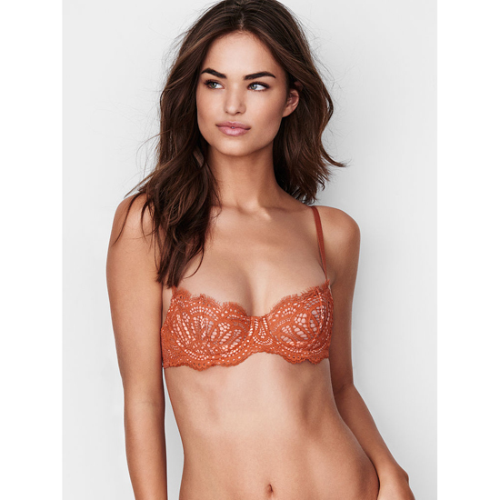 VICTORIA\'S SECRET Ginger Glaze Lace The Unlined Uplift Bra Outlet Online