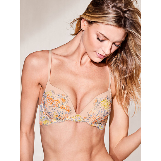 VICTORIA\'S SECRET Gold Earth Solid Lace NEW! Push-Up Bra Outlet Online