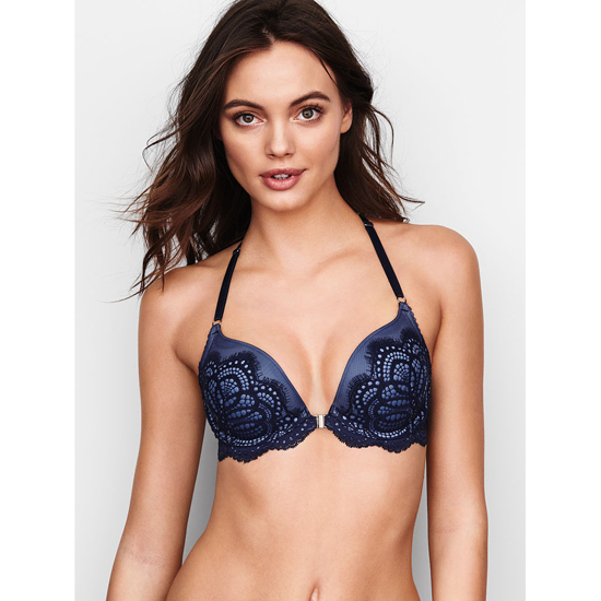 VICTORIA'S SECRET Front-Close Ensign Solid Lace NEW! Push-Up Bra Outlet Online