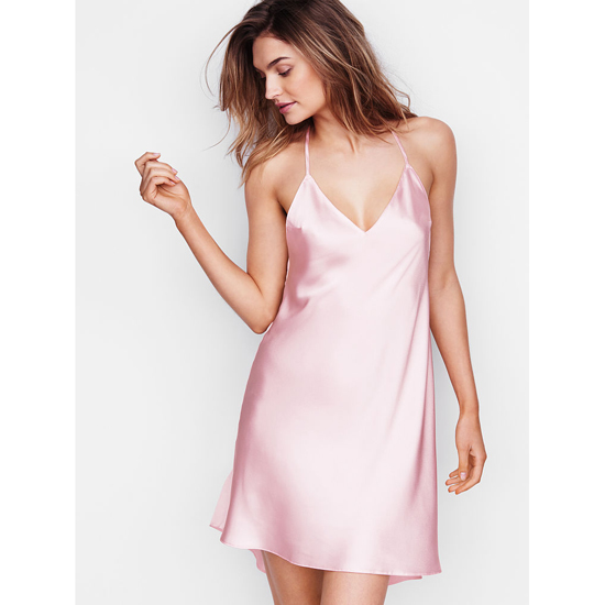 VICTORIA'S SECRET Angel Pink NEW! Crossback Satin Slip Outlet Online