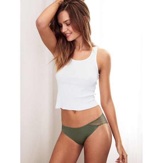 VICTORIA\'S SECRET Cadette Green Lace Wrap NEW! Bikini Panty Outlet Online