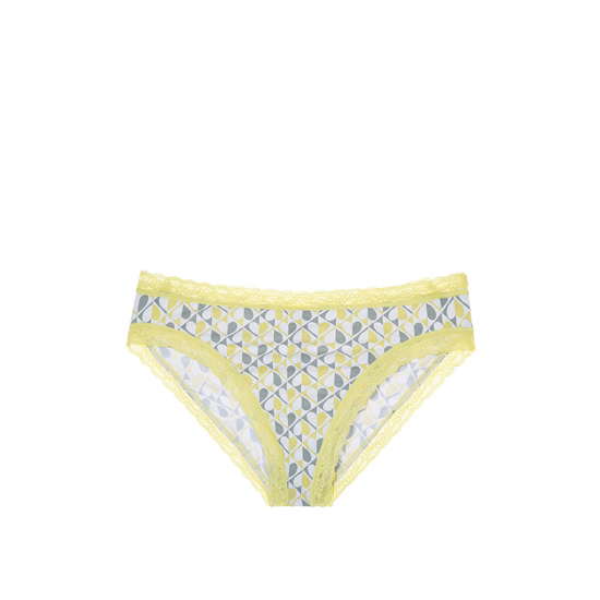 VICTORIA'S SECRET Yellow Heart Print NEW! Lace-trim High-leg Brief Panty Outlet Online