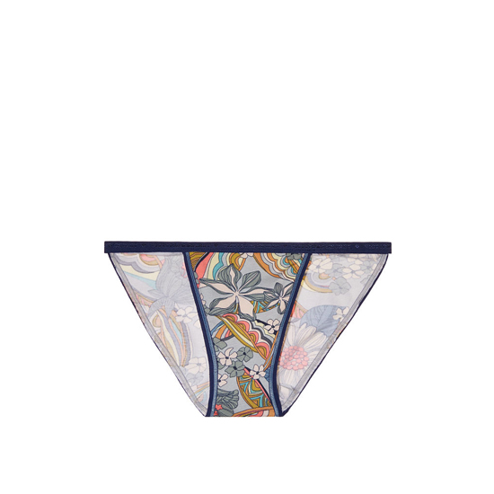 VICTORIA'S SECRET Blue Summer Florals Print String Bikini Panty Outlet Online