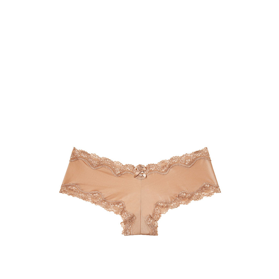VICTORIA\'S SECRET Light Nude Lace-Trim Cheeky Panty Outlet Online