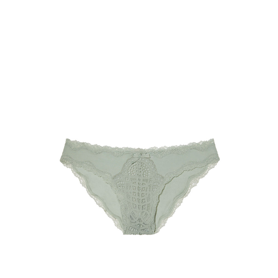 VICTORIA\'S SECRET Silver Sea NEW! Crochet Lace Cheekini Panty Outlet Online