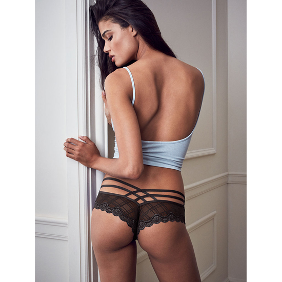 VICTORIA'S SECRET Black Strappy Cheeky Panty Outlet Online
