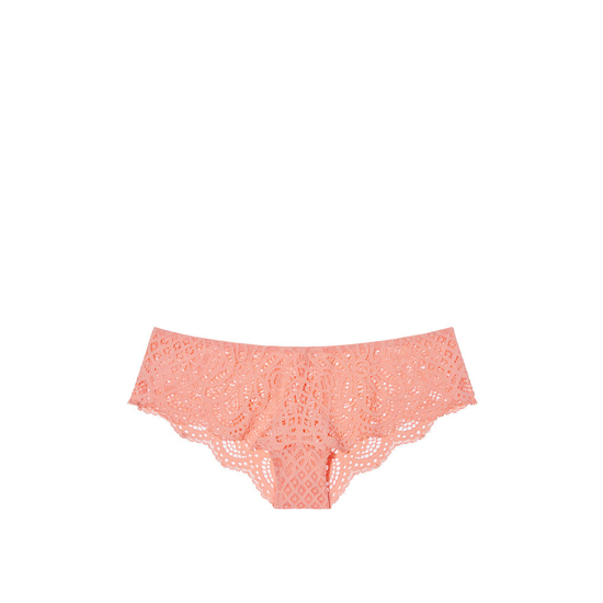 VICTORIA'S SECRET Lip Smacker Peach NEW! Crochet Lace Cheekster Panty Outlet Online