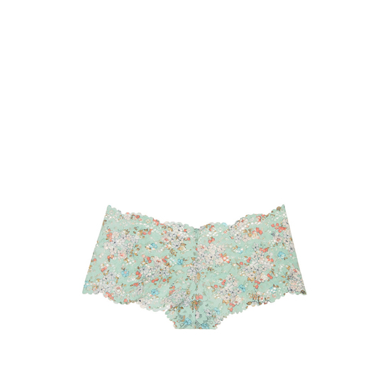 VICTORIA'S SECRET Silver Sea Printed Lace NEW! The Floral Lace Sexy Shortie Outlet Online