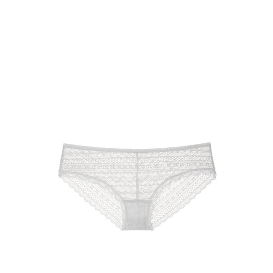 VICTORIA\'S SECRET So Silver Lace Cheeky Panty Outlet Online