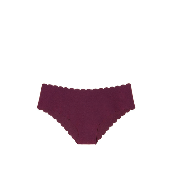 VICTORIA'S SECRET Ruby Wine Scalloped NEW! Raw Cut Cheeky Panty Outlet Online