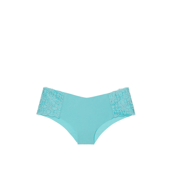 VICTORIA'S SECRET Cozumel Teal Daisy Lace NEW! Raw Cut Cheeky Panty Outlet Online
