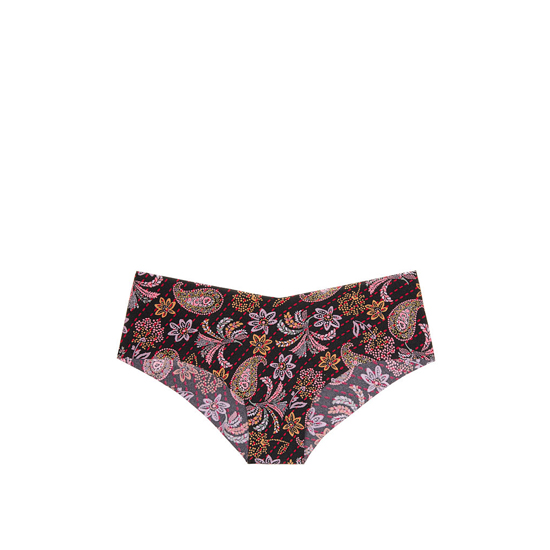VICTORIA\'S SECRET Black Pretty Paisley Print NEW! Raw Cut Cheeky Panty Outlet Online