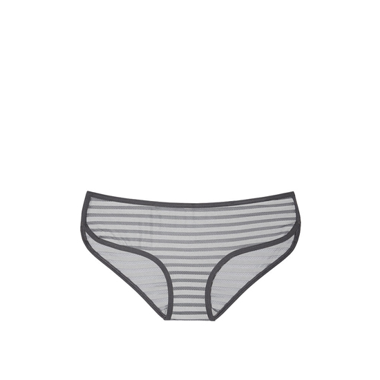 VICTORIA\'S SECRET Sterling Pewter Shadow Stripe NEW! Marl Hipster Panty Outlet Online