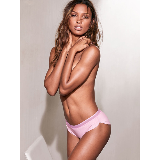 VICTORIA\'S SECRET Pink Bubble Stripe Band NEW! Marl Hipster Panty Outlet Online