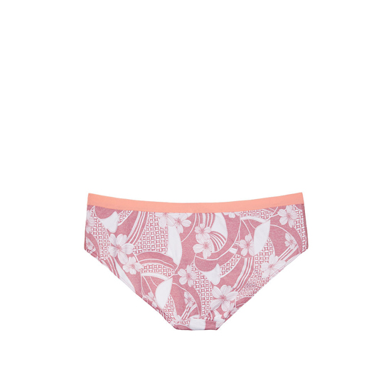 VICTORIA\'S SECRET Rosy Mauve Floral Wave Print Colorblock NEW! Marl Hipster Panty Outlet Online