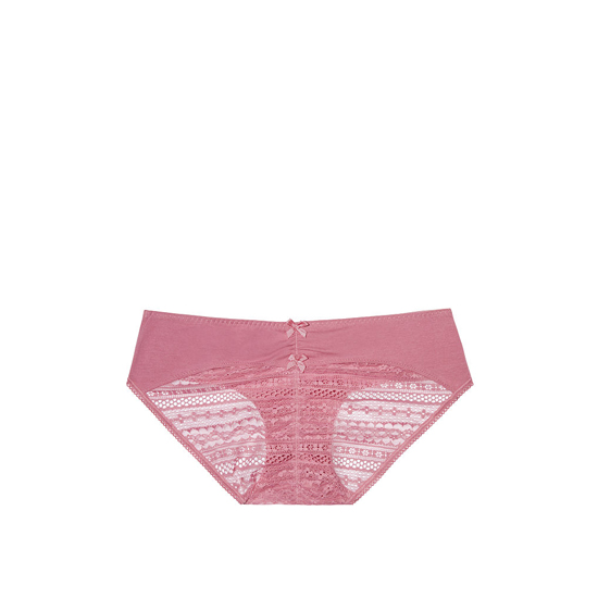 VICTORIA\'S SECRET Rosy Mauve NEW! Heart Ruched-back Hiphugger Panty Outlet Online