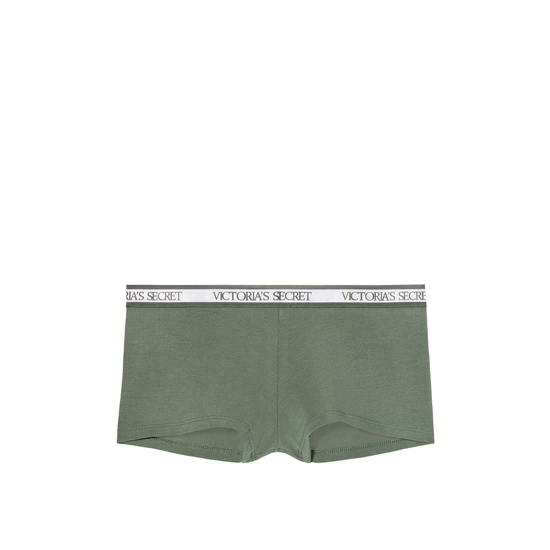 VICTORIA'S SECRET Cadette Green NEW! Logo-waist Shortie Panty Outlet Online