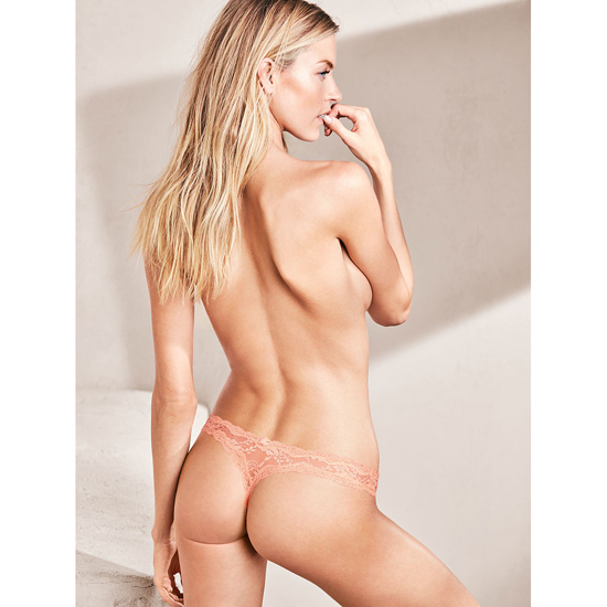 VICTORIA\'S SECRET Peach Melba NEW! Lace thong Outlet Online