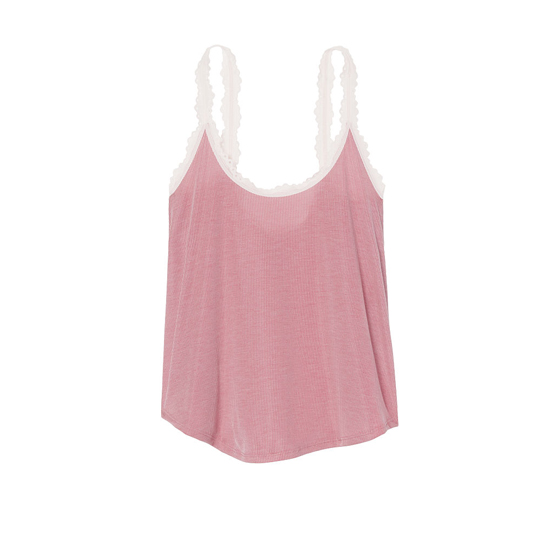 VICTORIA\'S SECRET Rose Luster NEW! Ribbed Sleep Cami Outlet Online