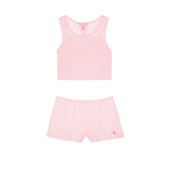 VICTORIA\'S SECRET Angel Pink NEW! Open-back Tank & Short Set Outlet Online
