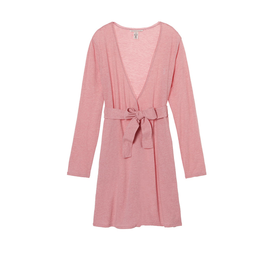 VICTORIA'S SECRET Rosy Mauve NEW! Sleepover Knit Robe Outlet Online