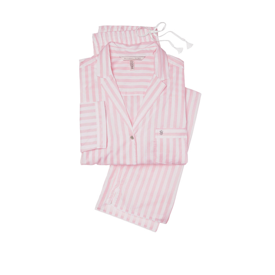 VICTORIA\'S SECRET Pink Stripe NEW! The Mayfair Pajama Outlet Online