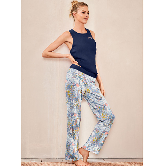 VICTORIA'S SECRET Ensign/Ensign Paisley NEW! The Pillowtalk Tank Pajama Outlet Online