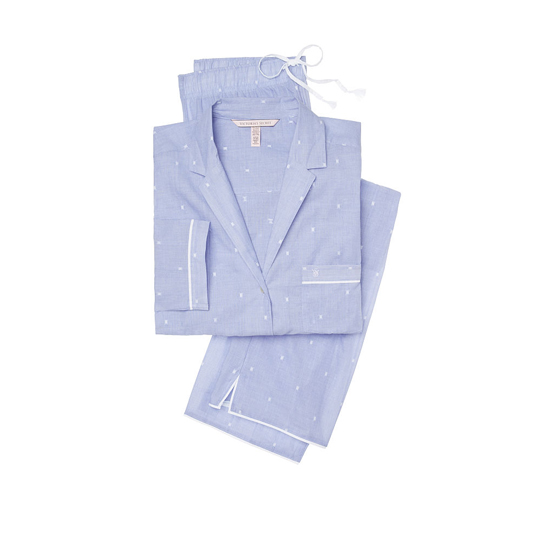 VICTORIA'S SECRET Indigo Dobby NEW! The Mayfair Pajama Outlet Online