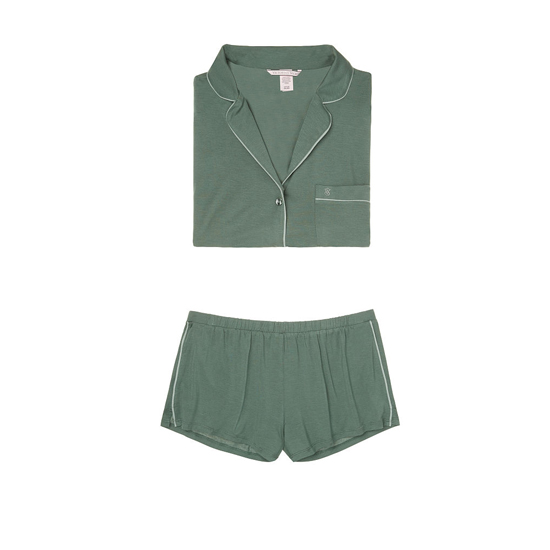 VICTORIA'S SECRET Cadette Green Supersoft Short PJ Set Outlet Online